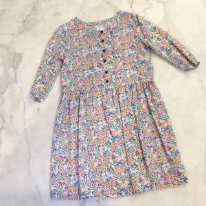 Carters floral button front dress. Sz 6.